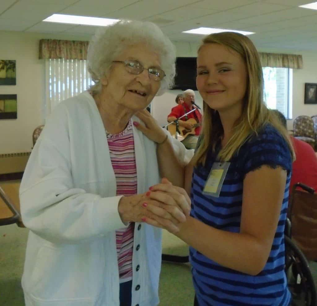 what i love about volunteering is seeing the residents they are all very unique and special in their own ways it is so much fun spending time with them